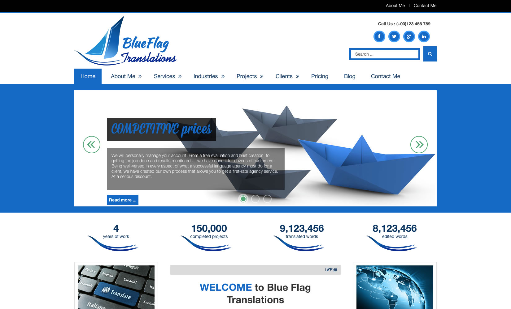 Designed Joomla! 3.4 website - blueflagtranslations.com