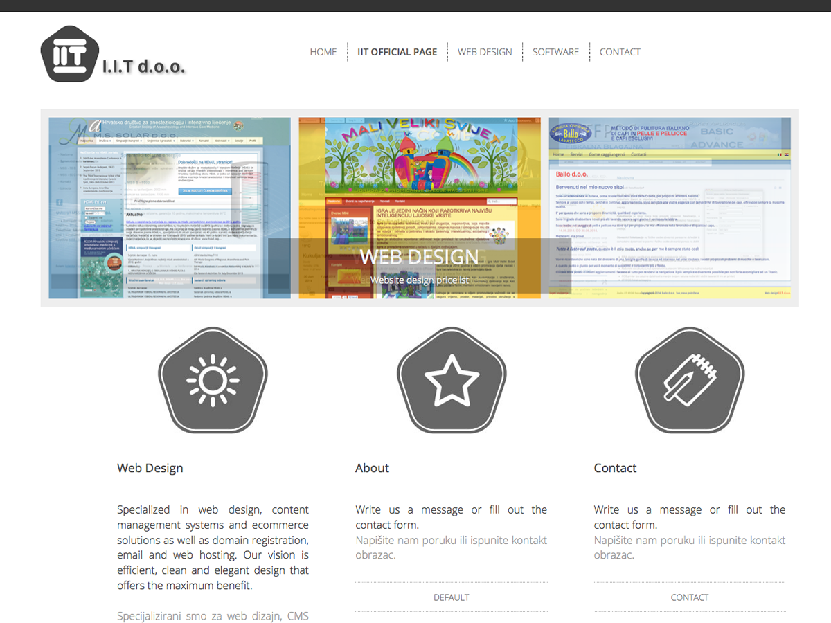 Joomla! 3.x website design - iit.com.hr