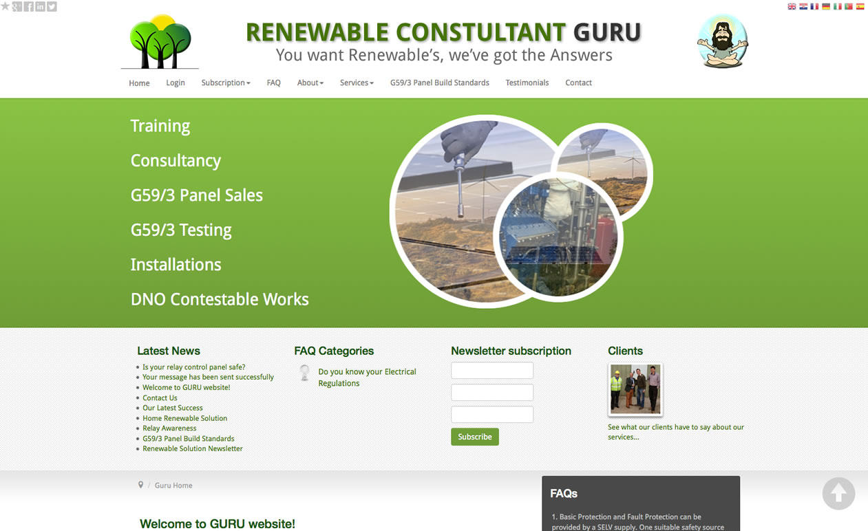 Designed Joomla! 3.x website - renewableconsultant.guru