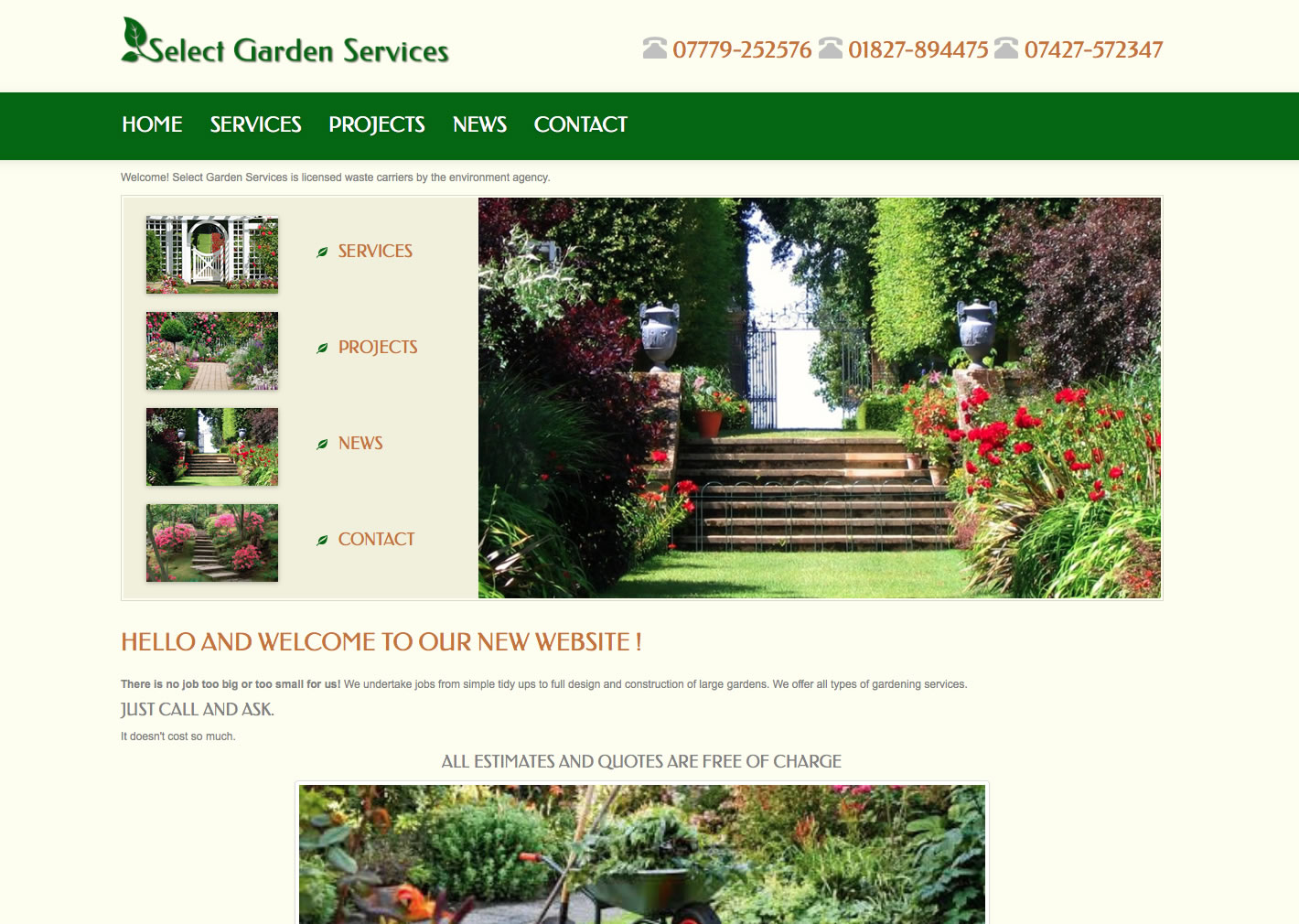 Designed Joomla! 3.x website - selectgardenservices.co.uk